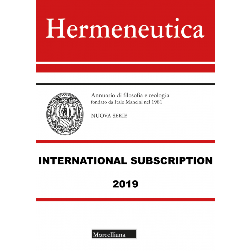 HERMENEUTICA International Subscription 2019