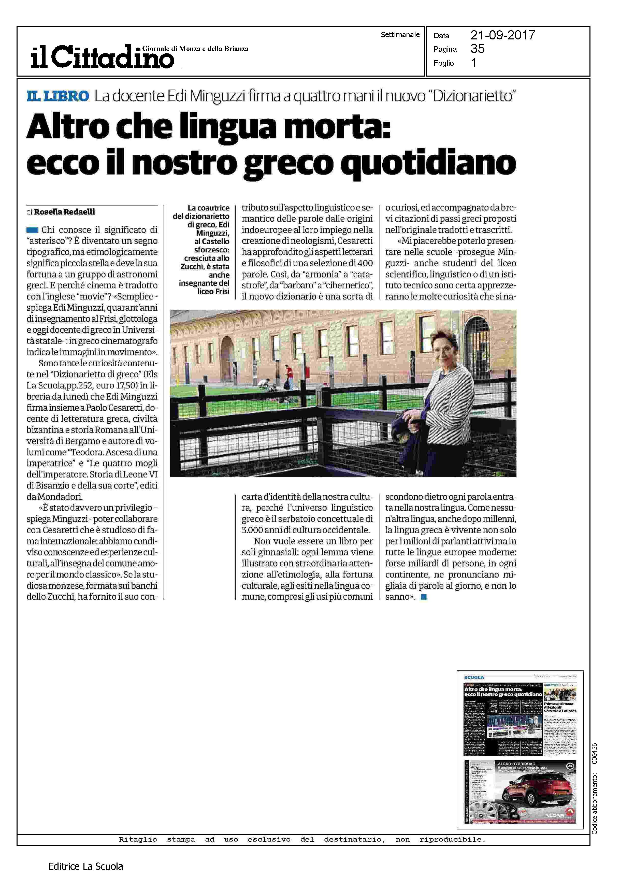 Els Il Cittadino 21 9 2017 Dizionarietto
