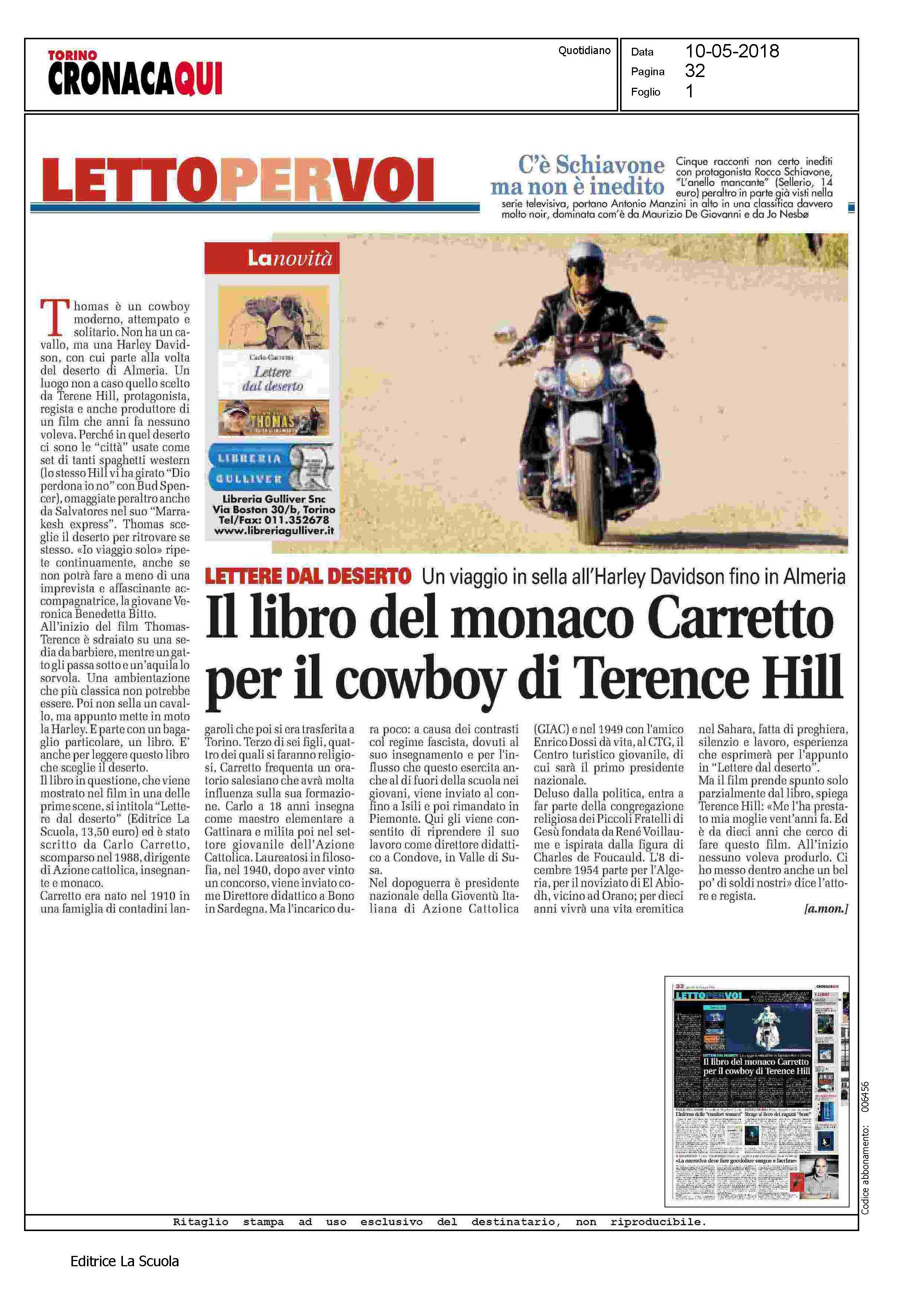 Els Torino cronaca 10 5 2018 Carretto.jp